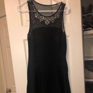 Express dress with jewel top